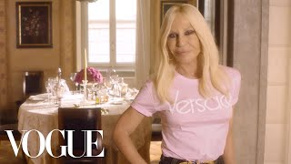73 questions with donatella versace vogue