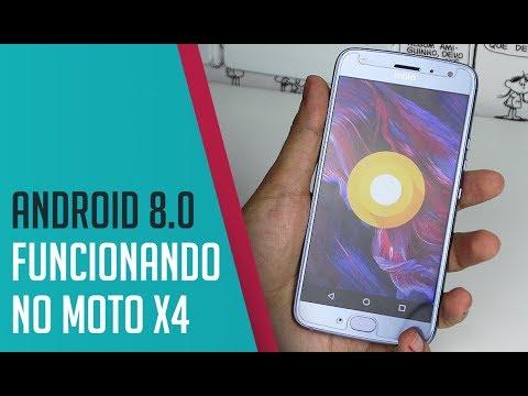 ANDROID OREO (8.0) FUNCIONANDO NO MOTO X4 😯📲 | Papo Tech