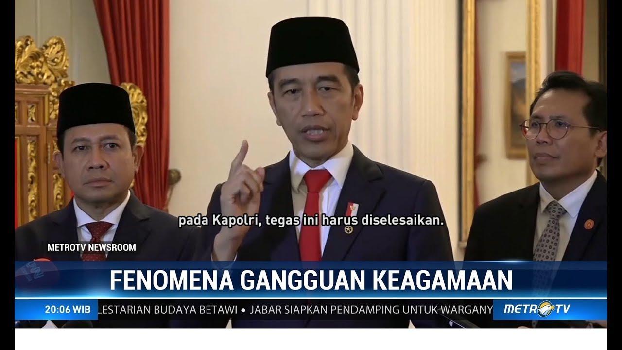 Jokowi Marah Adanya Intoleransi Pembangunan Masjid Dan