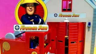 Fireman Sam english Episodes full Fire station Playset Toys - Fireman Sam and Officer Steele