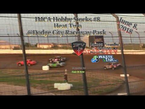 IMCA Hobby Stocks #8, Heat 2, Dodge City Raceway Park, 06/08/18