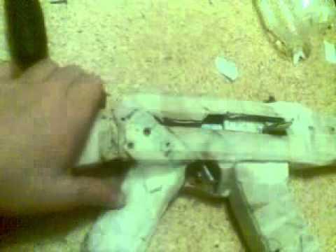 модель АК 47 из бумали и