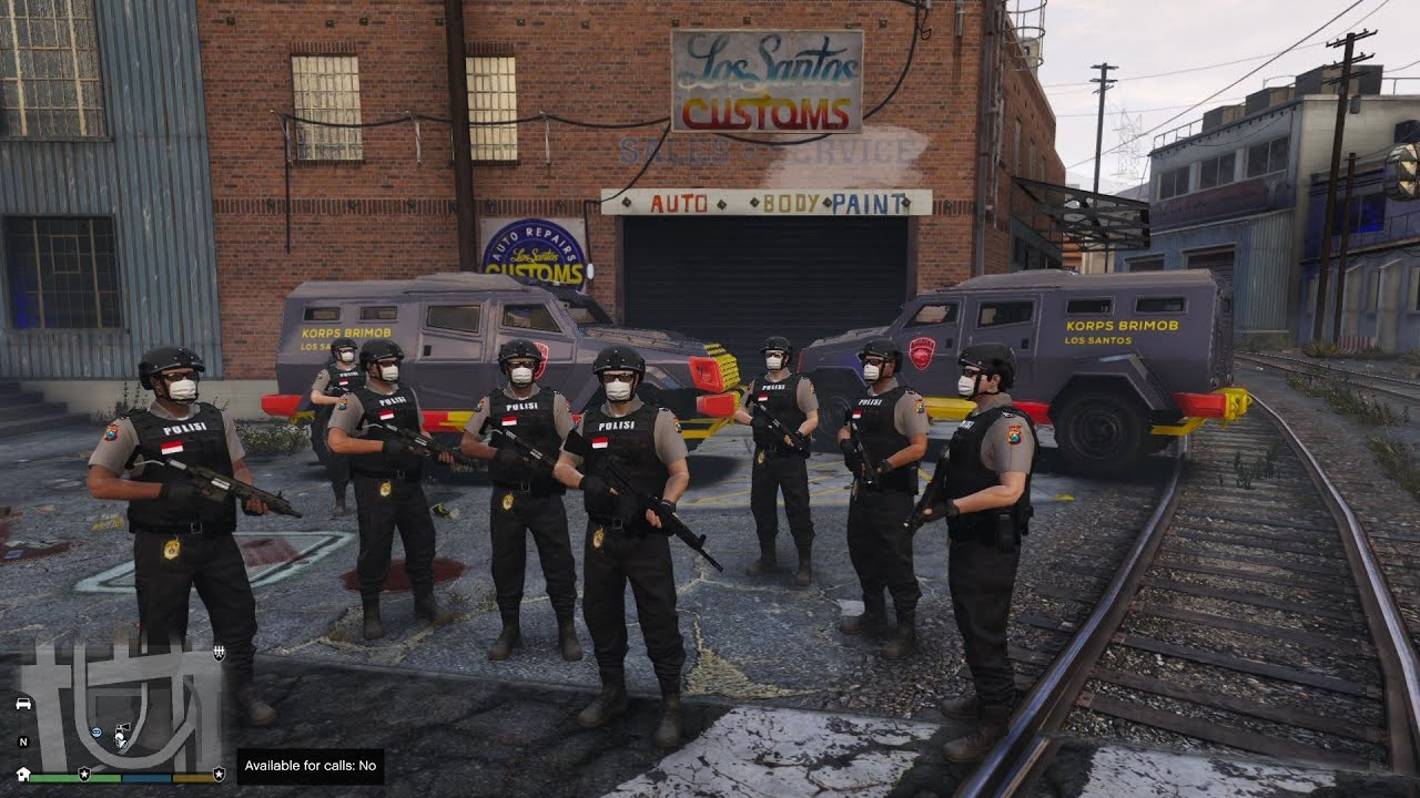 Full Penangkapan Geng Motor & Bandar Narkoba! GTA 5 Mod Polisi Indonesia