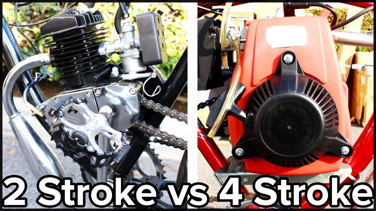 medium resolution of 2 stroke vs 4 stroke motorized bicycle gopro