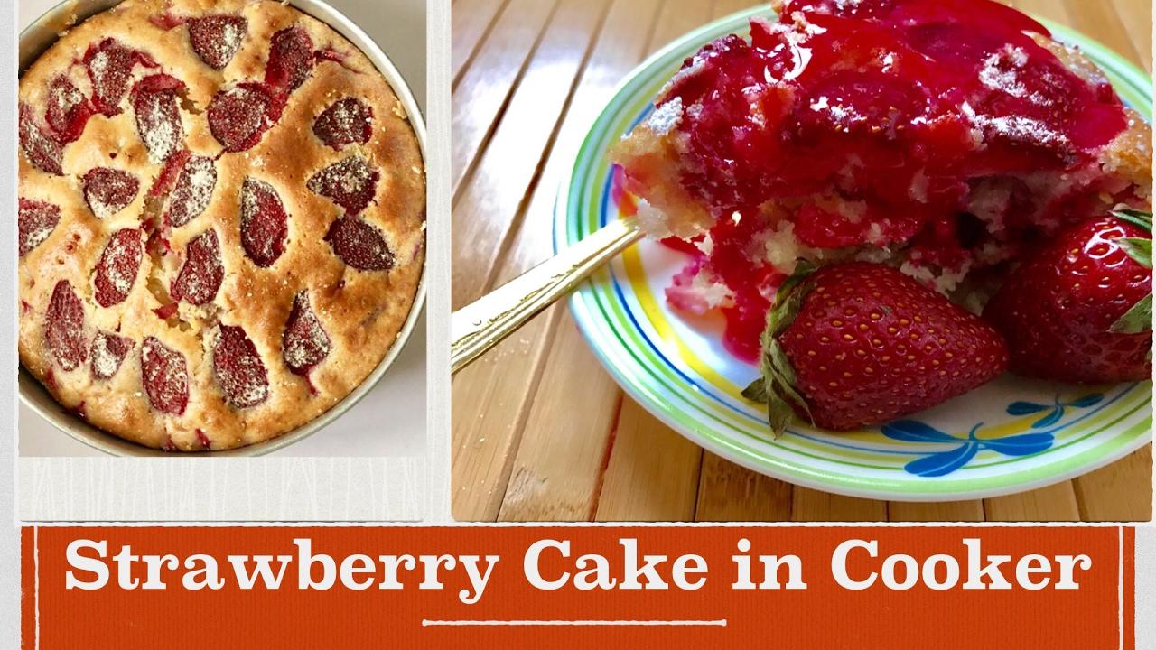Cake Making In Pressure Cooker Malayalam: No Oven Strawberry Cake In Pressure Cooker Recipe In Hindi