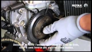Dépose et entretien de l'embrayage   moteur Rotax