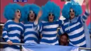 El furor de los hinchas argentinos en Gloucester