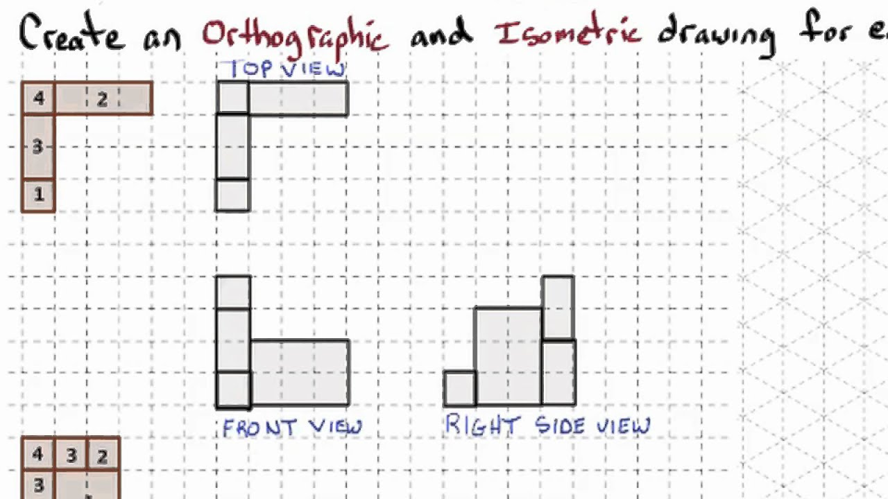 1 3 Drawings And Models Foundational Orthographic And Isometric Drawing Practice Set Iii