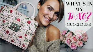 WHAT'S IN MY BAG? GUCCI DUPE | Blaise Dyer