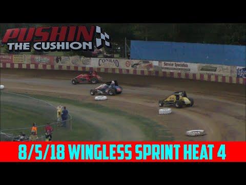 Angell Park Speedway - 8/5/18 - Sprints - Heat 4