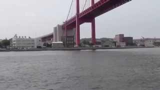 若戸大橋の戸畑側海中の橋脚あたりに周囲500メートルほどの小島があった...
