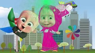 マシャとクマ 日本の子供たちの色を学ぶ - 子供の色| 子供のおもちゃ