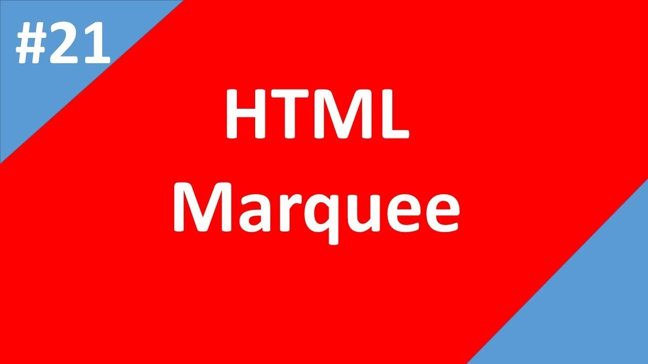 Marquee tag in html | Part -21 | Html Tutorial | Tech Talk Tricks