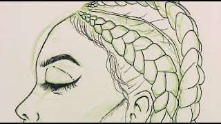 draw cornrows drawing easy quick lapse stylized