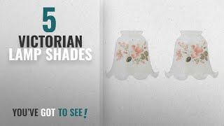 """Top 10 Victorian Lamp Shades [2018 ]: 2 Glass Lamp Shades White Glass 2 1/4"""" Fitter 