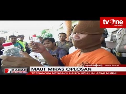 Polisi Tangkap Penjual Miras Oplosan Yang Menewaskan 8 Orang di Banyuwangi, Jatim