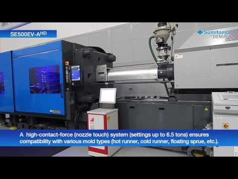 Sumitomo (SHI) Demag SE500EV-AHD All-Electric Injection Molding Machine Demo