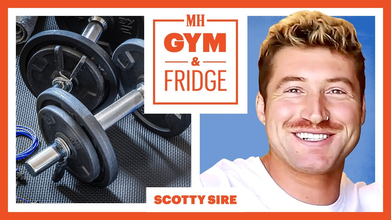 Scotty Sire Shows His Gym & Fridge | Gym & Fridge | Men's Health