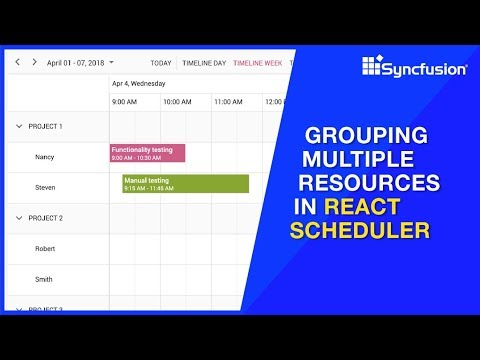 Grouping Multiple Resources in React Scheduler thumbnail