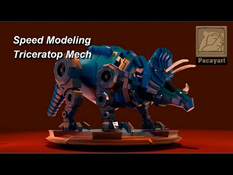 Speed Modeling - Triceratop Mech