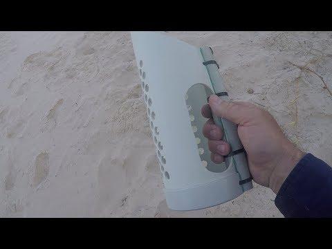 Testing Custom DIY PVC Sand Scoop - Treasure Hunting Metal Detector Minelab CTX3030 Accessories