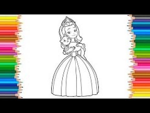 Colorindo A Princesa Amber Aprendendo A Colorir Princesa Disney