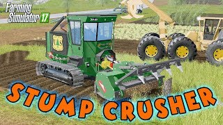 GALOTRAX 800 Stump Grinder with New Fields Option - Farming Simulator 2017 Mods