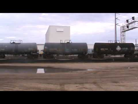 BNSF General Freight Arrival backing up Tulsa, OK 9/28/17 vid 4 of 14