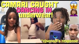 CJSOCOOL'S DAUGHTER CAMARI CAUGHT DANCING IN UNDERWEAR ON SNAPCHAT!! | *video included