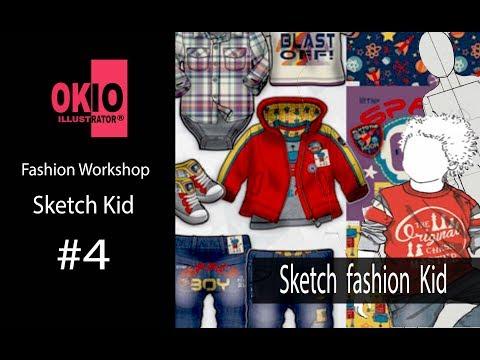 Vẽ Thiết Kế Thời Trang| Vẽ Nhân Thể Dáng ĐI Trẻ Em| Sketch fashion kid | Fashion Drawing