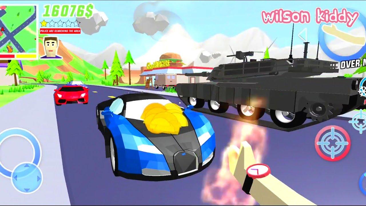 Dude Bakar Semua Mobil di Kota   Game Wilson Kiddy