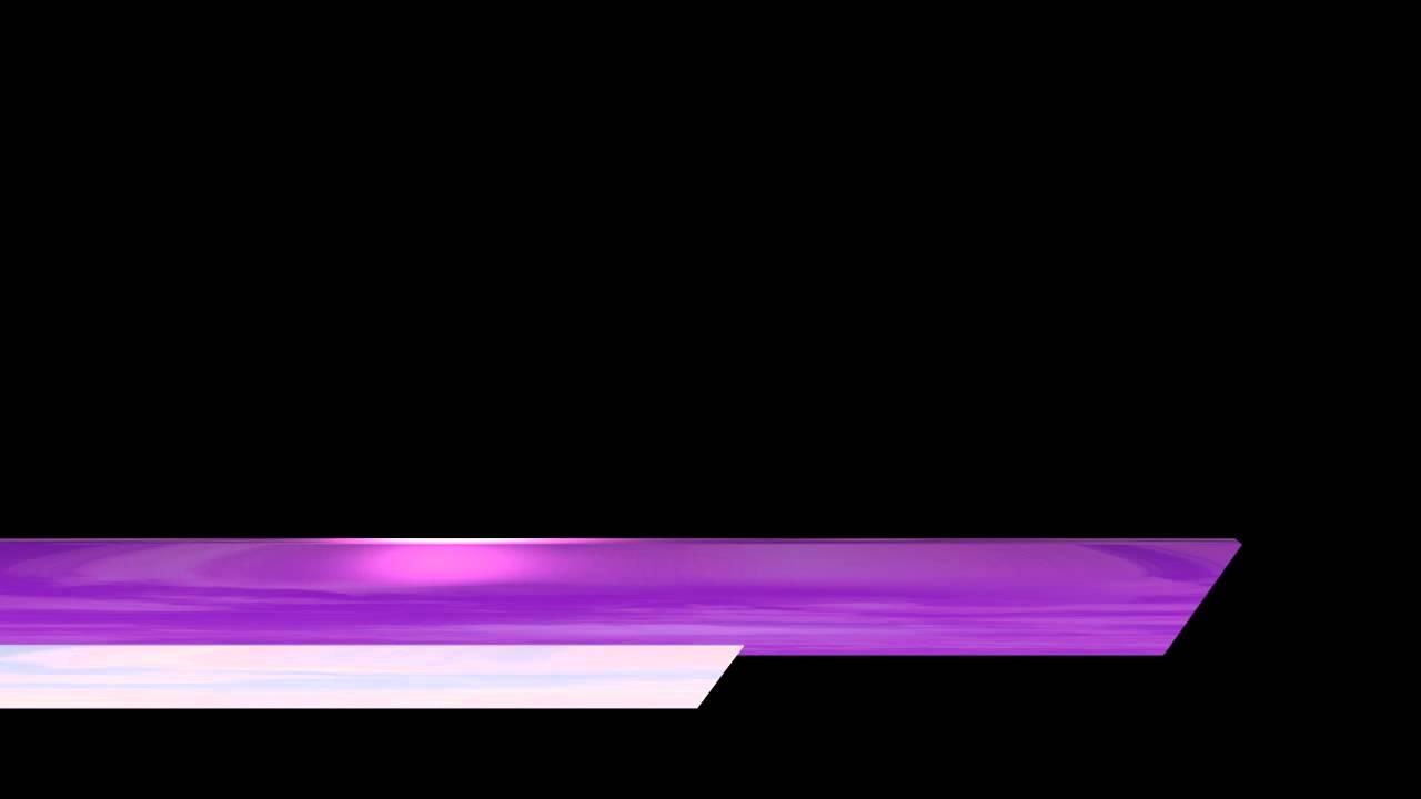 Video Lower Third Shiny Purple White Bars Edge Cut Youtube