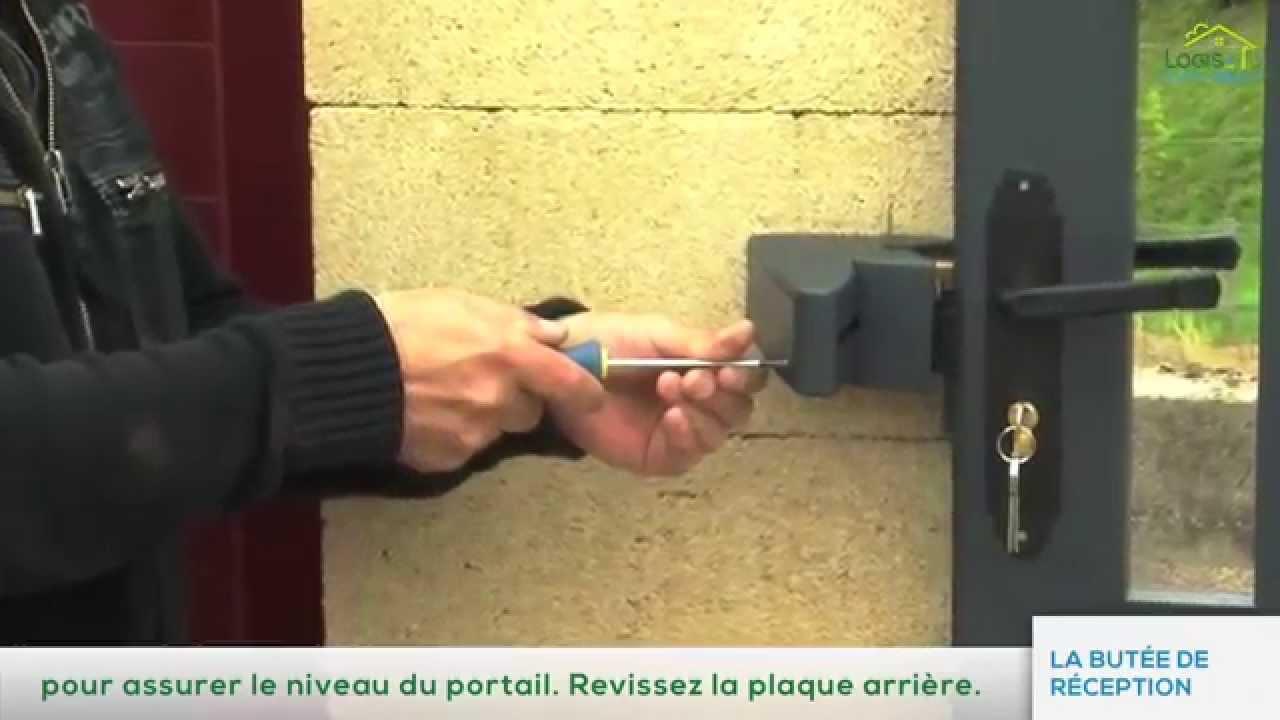 Installation Portail Coulissant Pose De La Butée De Réception Par Logis Et Clôtures