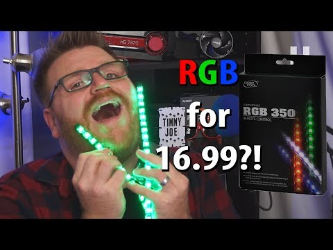CHEAP! Deepcool RGB 350 Light Strips for PC Reviewed