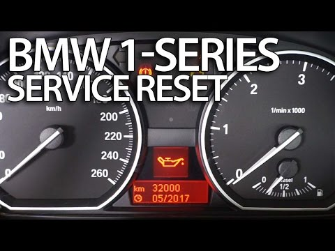 How to reset service reminder in BMW 1-Series (E81 E82 E87 E88 inspection)
