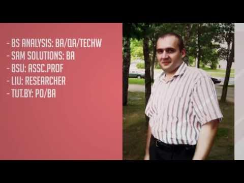 Dzmitry Marushka, PhD, Freelance Business Analyst, Software Tester and Technical Writer (Video CV)
