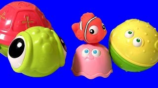 Disney Finding Nemo Stacking Cups Surprise Eggs! Disney Frozen Toys 2 Chupa Chups Masha Bear Fashems