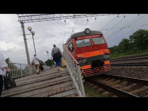 ЭР2Р-7084, маршрут: Бородино - Москва / Train ER2R-7084, Route: Borodino - Moscow