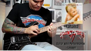 Van Halen - Panama Solo Cover + Lesson by Rod Rodrigues