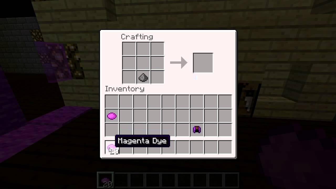 minecraft how to get magenta dye