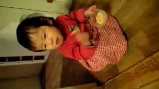 優美ちゃん(もうすぐ1歳3か月)です。 最近よく食べます♪ 「ま」は「...