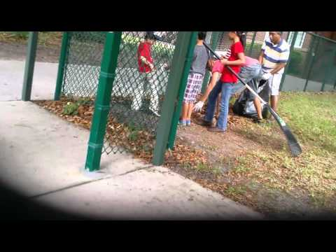 Cleaning up the Lomax elementary school