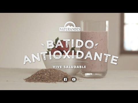Batido Antioxidante de Linaza, Fresa y Arándanos