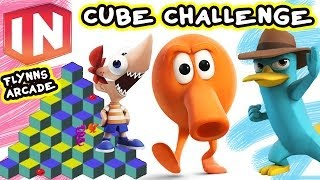 Phineas & Agent P Cube Challenge - Q*Bert Disney Infinity Toy Box Share (Face Cam)