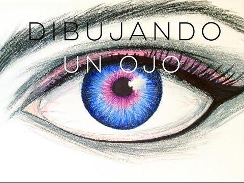 Como dibujar un ojo con lpices de color Drawing Timelapse  YouTube