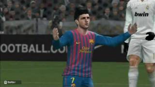 PES 2012 Wii Gameplay - Real Madrid vs. Barcelona (3DJuegos)