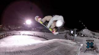 GoPro HD: Eric Willett Snowboard Big Air Practice