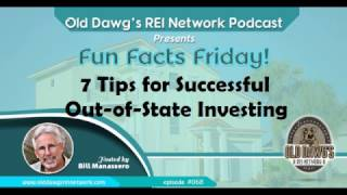 068: 7 Tips for Successful Out-of-State Investing