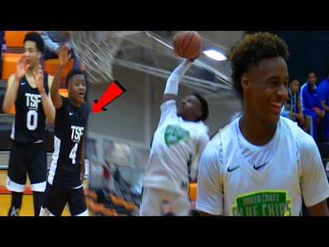 BRONNY SHOOTS FREE THROWS BETTER THAN HIS DAD??? Blue Chips First Game Of The YEAR!