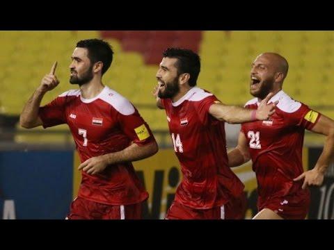 منتخب سوريا 1-0 أوزبكستان | هدف عمر خريبين | تصفيات كأس العالم 2018